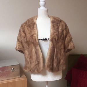 Vintage genuine mink fur